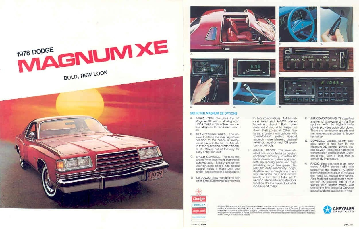 1978 79 Magnum Xe Gt Information Fender Tag Vin Decoders Dodge Wiring Diagram Image Canadian Brochure 01